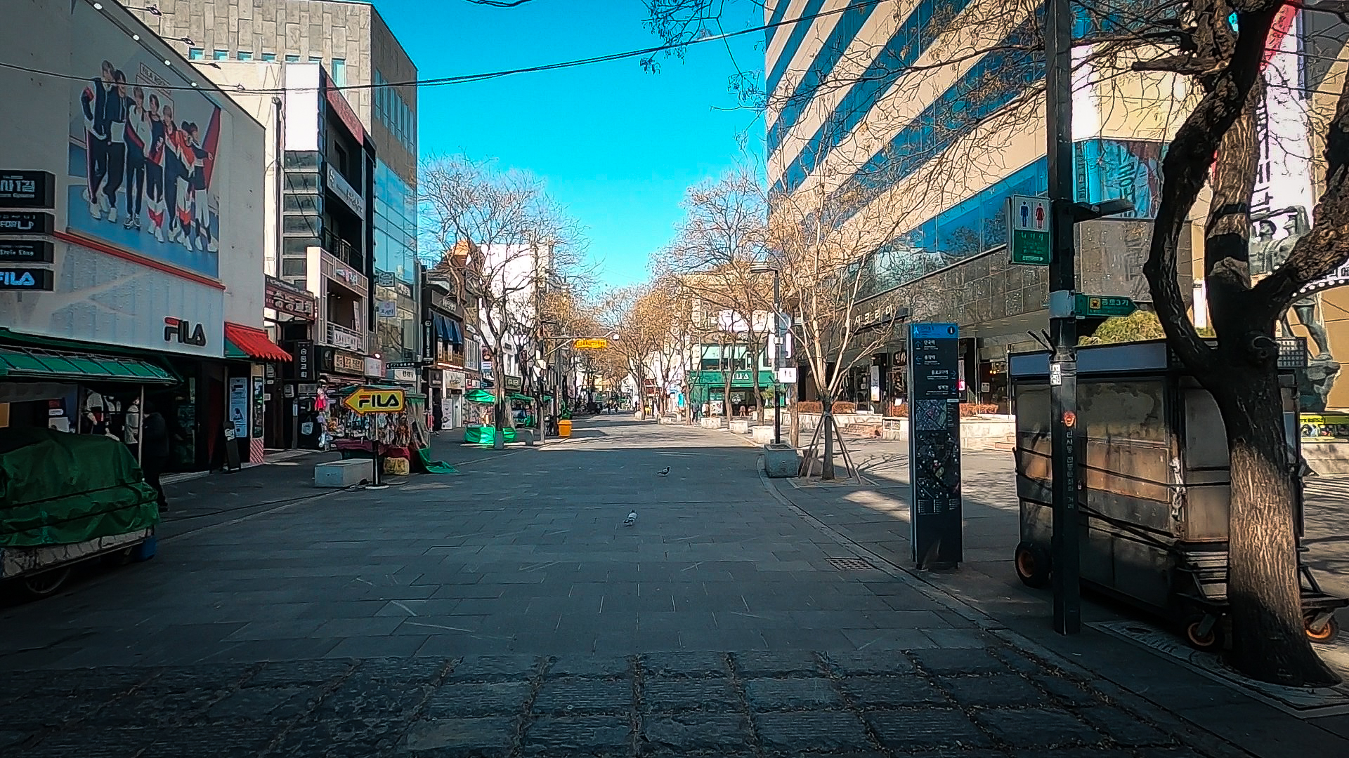 Insadong, a hot spot for locals and tourists alike, is usually full of people and life. However, these days the streets are empty as people are opting to stay away from large crowds.