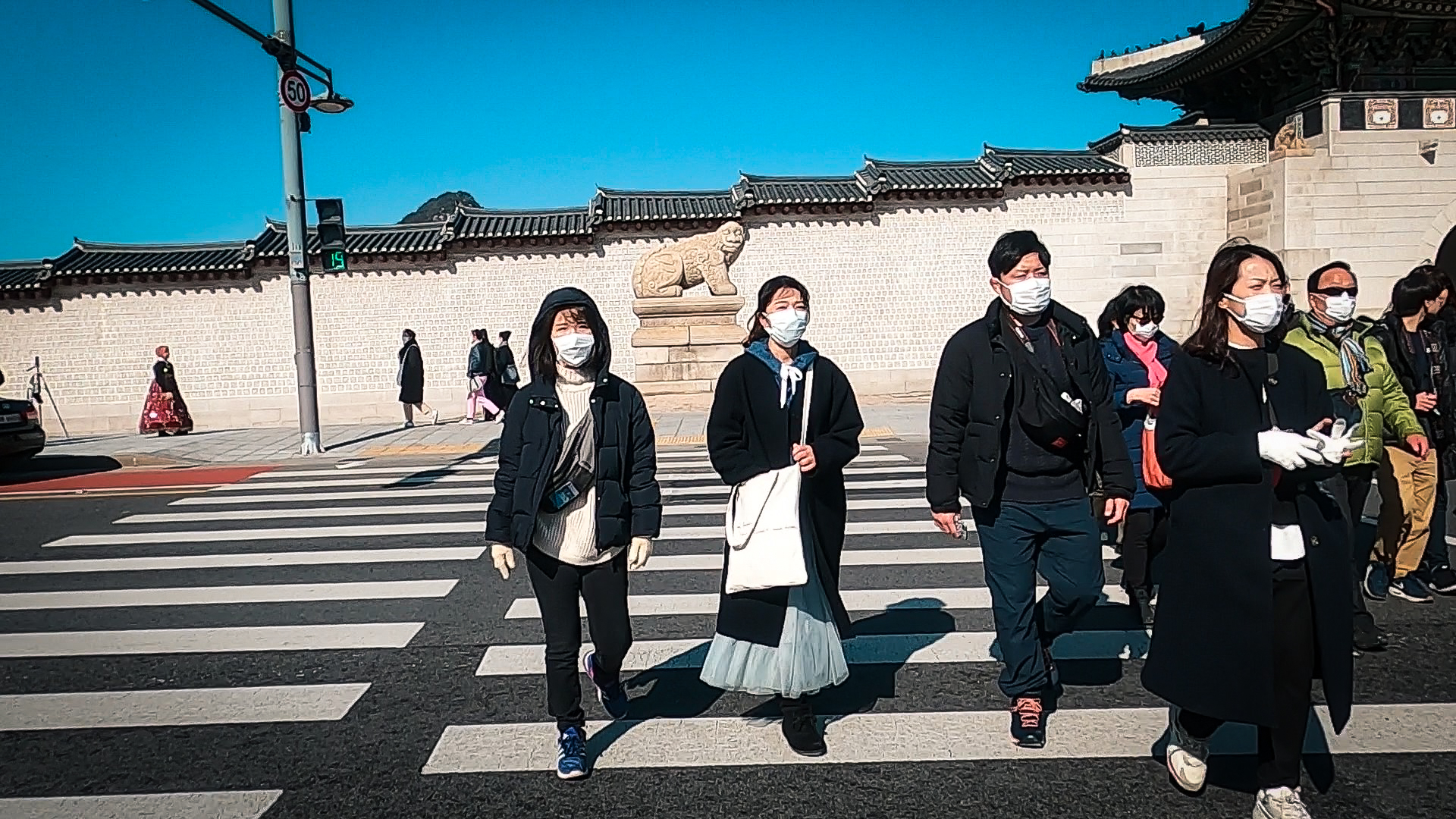 Those choosing to go out in public are sure to wear a mask to protect themselves against catching the Coronavirus in South Korea.