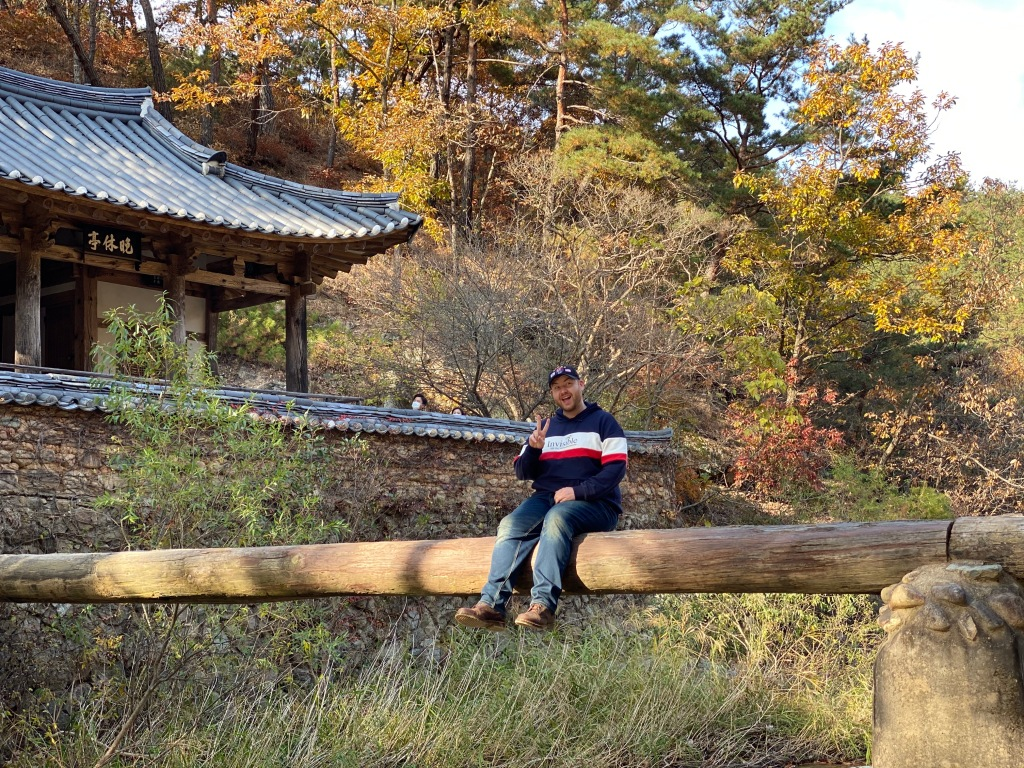 tastes Seoul Good in Andong, South Korea while vlogging for the online event Discover Korea Live 2020